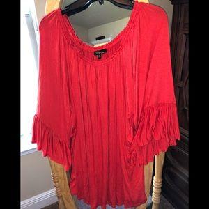 Cupio ruffle bell sleeved blouse